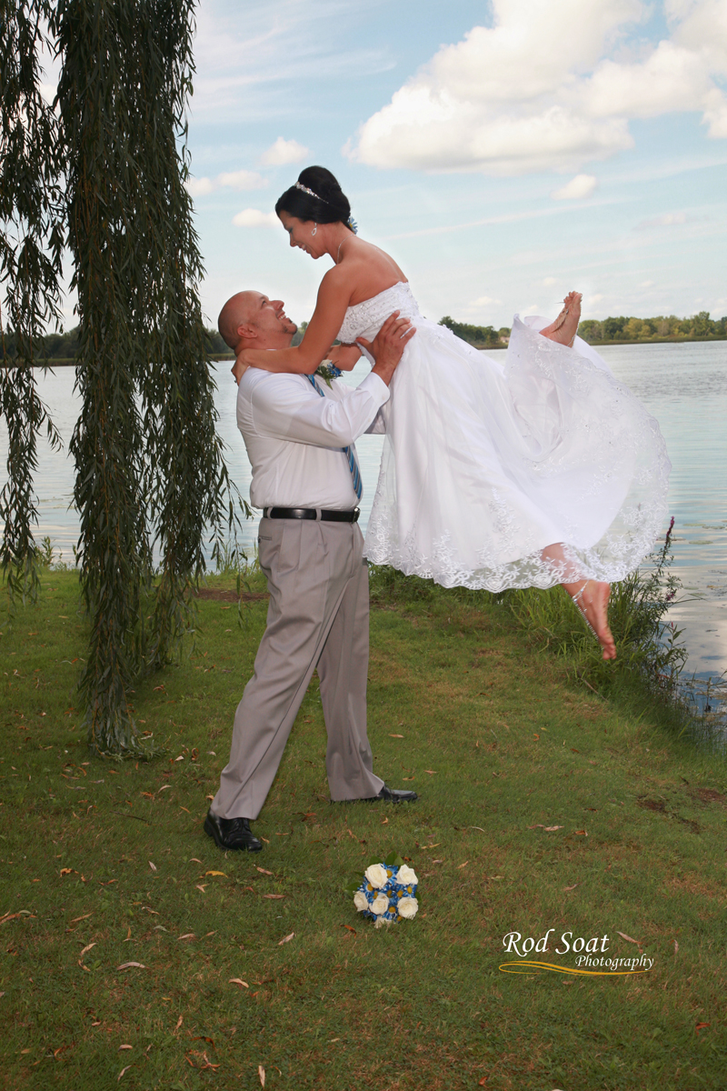 Wedding Picture at Lake